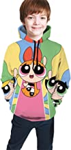 dgfgad Sudadera con Capucha Kids Hoodies Cute Power-Puff Girls Youth Sweatshirt Pockets Pullover Clothes Hooded for Boys Girls