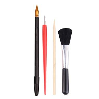 Scratching Tools, 4Pcs Scratching Tools Sketch Arts Set with Stick Scraper Pen Black Brush for Sketch Art Painting Papers Sheets Painting Drawing Boards