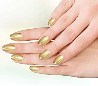 Fake nails art resuable long Artificial false nails|Press on nails|Hand Crafted customised Press on nails for womens (Gold Color)