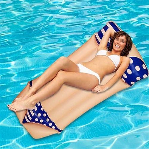 Flotteur de Piscine Gonflable Radeau de salon de tapis de bain de flotteur gonflable de piscine de bikini d'amuseHommest Fêtes d'été à la plage et à la piscine ( Couleur   Bleu , Taille   Libre Taille )