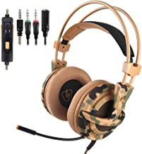 Hollow Three-Section Decompression Head with Adjustable Hidden Microphone Design Intelligent Noise Reduction,B CHUSHENG Head-Mounted Wired Gaming Headset