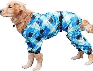 Yuanou Ropa Impermeable para Perros Bulldog franc/és Ropa para Perros Pug Ropa Impermeable para Mascotas Chaqueta Impermeable para Perros Reflectante