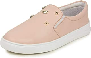 2ROW Women's Star Studded Pink Loafers