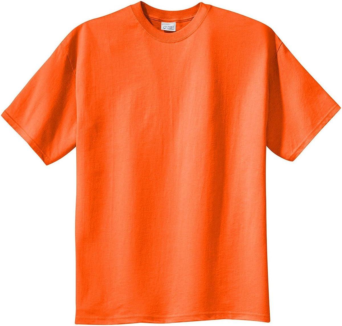Port & Company Tall Essential T-Shirt-4XLT (Sand),2X Tall,Orange