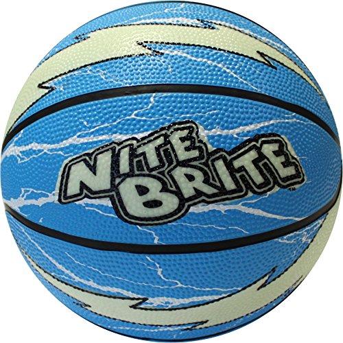 Baden Nite Brite Lightning–Balón de Baloncesto, Color Azul/Glow, tamaño 6