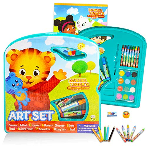 Daniel Tiger Coloring and Activity Super Set -- 40 Pc Daniel Tiger Art Set with Coloring Book, Paint with Water Supplies, Stickers, Pencils, Crayons and Much More
