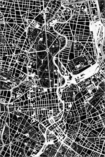 Cuadro de metacrilato 40 x 60 cm: City Map of Berlin de PlanosUrbanos