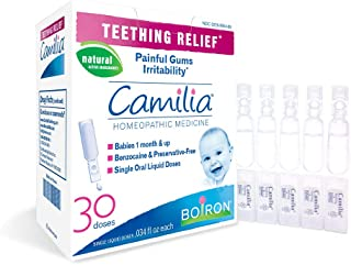 Boiron Camilia, Doses, Homeopathic Medicine for Teething Relief Natural - 30 Count