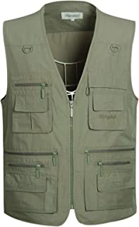 Gihuo Men's Summer Outdoor Safari Fishing Hiking Travel Vest with Pockets