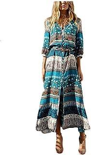 7db5a7e1aaf LILICAT Les Femmes à la Mode la Taille du Vent National était Mince été  Bohème Tunique