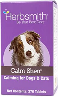 Herbsmith Calm Shen – Herbal Blend for Dogs & Cats – Natural Anxiety Remedy for Dogs & Cats – Feline and Canine Calming Supplement