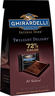 Ghirardelli 72% Twilight Delight Chocolate in Stand Up Bag, 4.87 Ounce (Pack of 8)