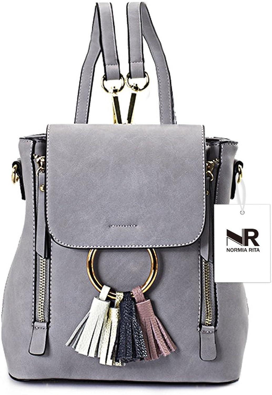 Normia Rita Women Crossbody Backpack Purse Small Shoulder Bag Ladies Cute Chain Satchel Tassel Bags for Girls