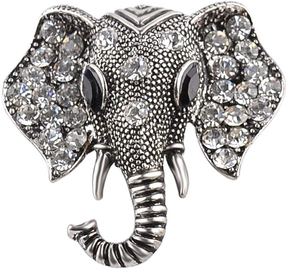 Brooch Pin Shining Year-end gift Rhinestones Garment Elephant Head New product!!