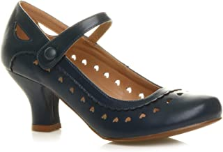 c3a9dbcb070700 Chaussures Escarpins Babies Classique cœur découpée Femmes Petit Talon  Taille