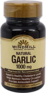 Windmill Garlic Oil 1000 mg Softgels 100 Soft Gels (Pack of 3)