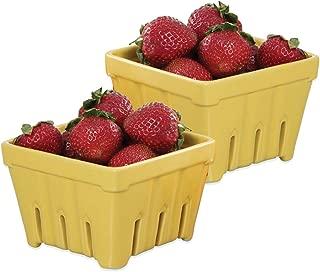Ceramic Fruit Stand Berry Basket (2, Yellow)