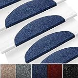 etm Set de 15 marchettes d'escalier Surface Confortable et antidérapante   Taille 23x65cm   Couleurs diverses - Bleu