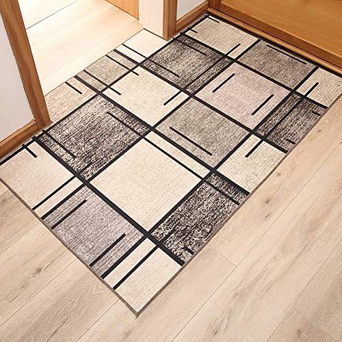 D&LE Nordic Style Indoor Doormat, Simple Premium Quality Non Slip Entrance Mat Foot Pad Bedroom Living Room Home Rug-gray 60x90cm