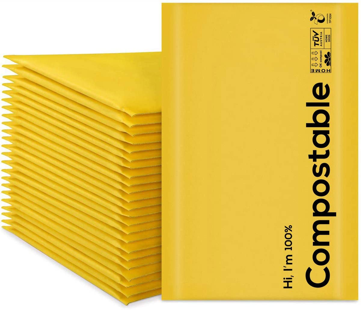 4x8 100% Quantity limited Biodegradable Price reduction Bubble Mailers #000 Count 25 Compostable