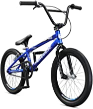 Mongoose Title Pro XL BMX Race Bike for Beginner to Intermediate Riders, Featuring Lightweight Tectonic T1 Aluminum Frame and Internal Cable Routing with 20-Inch Wheels, Blue