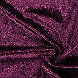 Fabulous Fabrics Pannesamt aubergine – Weicher Samt Stoff
