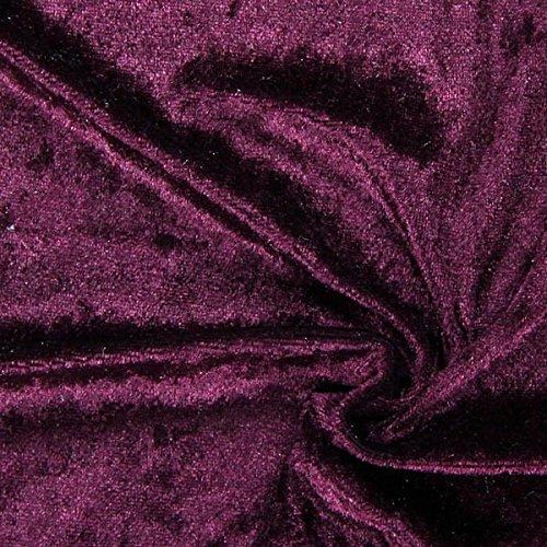 Fabulous Fabrics Pannesamt aubergine – Weicher Samt Stoff zum Nähen von Kleidern, Oberteilen, Tüchern und Tischdecken - Pannesamt Dekostoff & Bekleidungsstoff - Meterware ab 0,5m
