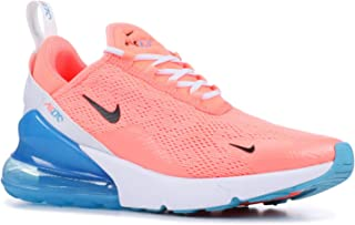 Nike Women's Air Max 270 Running Shoe (6.5, Lava Glow/Black/White/Blue Fury)