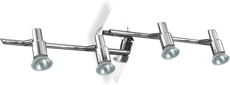 Ideal Lux SLEM Deckenleuchte mit Struktur aus Metall Wohnzimmer PB4chrom