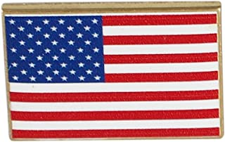 USA Flag Pin-- Made in America (Dimensionally Printed) (1 Pack)
