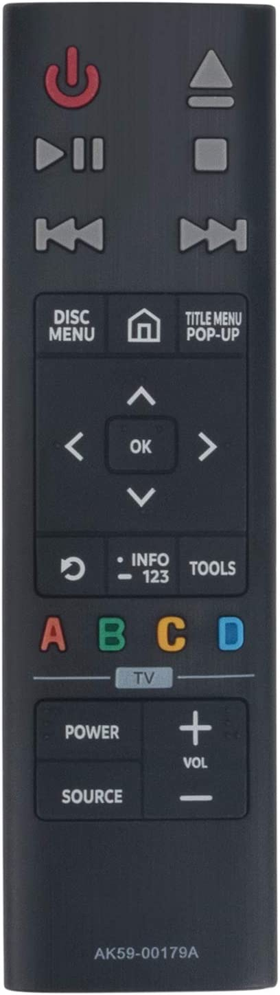 AK59-00179A Replacement Remote Control Applicable for Samsung 4K Ultra HD Blu-ray Player UBD-K8500 UBD-K8500/ZA UBDK8500
