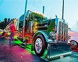 Kit per pittura a mosaico 5D, 40 x 50 cm colorato camion 5d pittura con diamanti