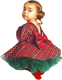 37feba324a2b Cinnamou Conjunto de 2 Piezas Vestido Tops + Falda, Vestidos Cuadros Bebes Vestido  Lentejuelas de