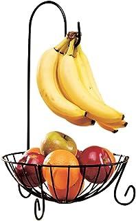 dewdropy Cesta De Frutas De Tres Capas De Acero Inoxidable Duradera Desmontable Multiusos Adecuado para Cocina Comedor Sala De Estar Cesta Colgante