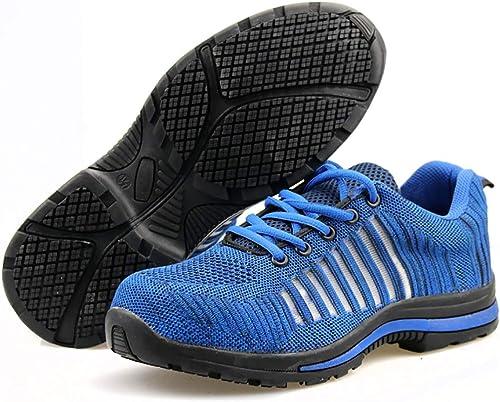 YXWa Bottes d'ingénieur Chaussures de Course Homme - Chaussures de Tennis Homme et Femme à Coussin d'air Chaussures d'ingénierie (Couleur   Bleu, Taille   41)