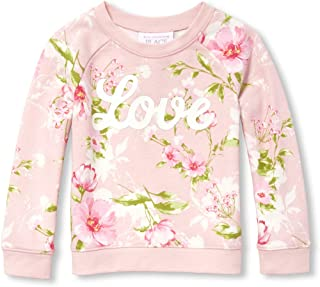 The Children's Place Baby Girls Long Sleeve Floral Printed Sweater
