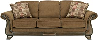 Ashley Furniture Signature Design - Montgomery Sofa with 2 Throw Pillows - Classic Style - Mocha