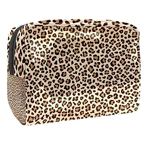 Trousse de toilette multifonction pour femme Motif léopard