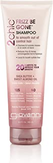 Giovanni 2chic Frizz Be Gone Shea Butter & Sweet Almond Oil Shampoo, 8.5 Ounce