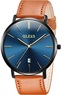 Watches for Men Waterproof Minimalist Analog Quartz Wrist Watch Perfect Gifts for Mens