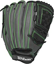 Wilson Onyx Cat Osterman Pitcher Fastpitch Softball Glove, Black/Coal/Neon Green, Right Hand Throw, 12-Inch