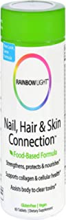 Rainbow Light - Nail, Hair & Skin Connection, Beauty Support Healthy Collagen Production and Strong, Lustrous Nails and Ha...