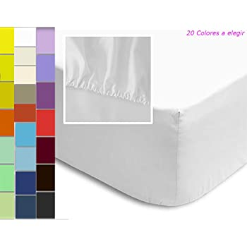 ForenTex Pack 2 Sábanas Bajeras Ajustable Polialgodón 200 Hilos Color Liso, Mostaza, 135 cm, 2: Amazon.es: Hogar