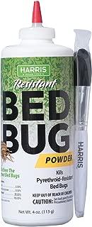 HARRIS Bed Bug Killer, 4oz Powder with Application Brush