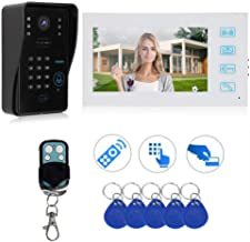 7in Door Phone, Weatherproof Night Looking System Video Doorbell, Houses Apartment for Villa Public Buildings(Australian r...