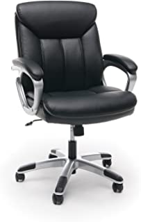 Essentials Leather Executive Computer/Office Chair with Arms - Ergonomic Swivel Chair