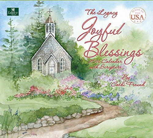Legacy Publishing Group 2016 Wall Calendar, Joyful Blessings (WCA16631)