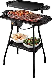 Russell Hobbs 20950-56 Barbecue Plancha Electrique 3en1 Fiesta, Thermostat Réglable