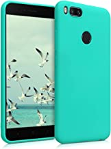 kwmobile TPU Silicone Case for Xiaomi Mi 5X / Mi A1 - Soft Flexible Shock Absorbent Protective Phone Cover - Neon Turquoise