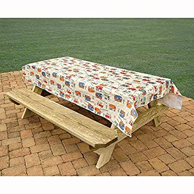 Bowery Direcsource Ltd Camping Tablecloth, Camping Trails by